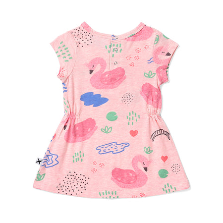Minti Swan Garden Dress - Pink Marle