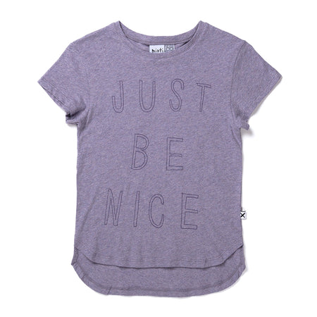 Minti Be Nice Tee - Purple Marle