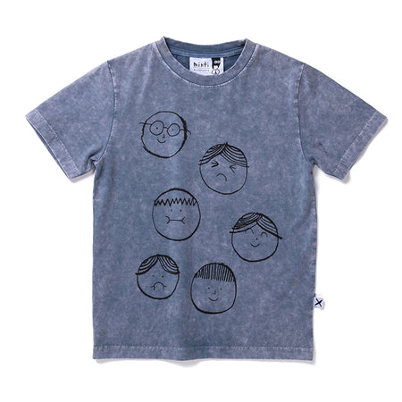 Minti Different Faces Tee - Midnight Wash