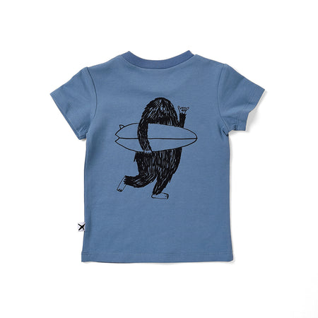 Minti Surf Buddies Tee - Steel Blue