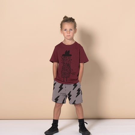 Minti Mr Pineapple Tee - Burnt Red Marle