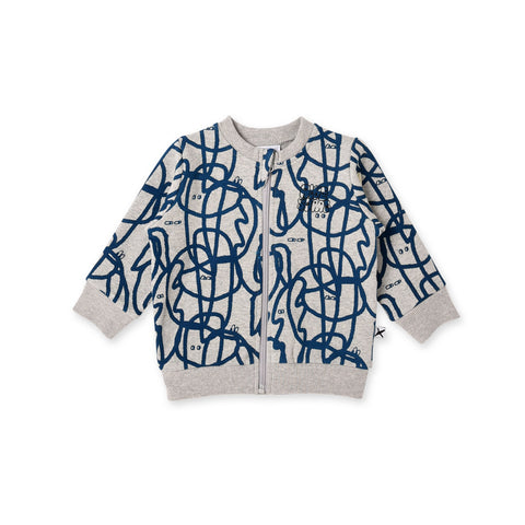 Minti Squiggle Furry Zip Up Crew