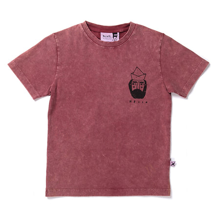 Minti Hello Sailor Tee - Burnt Red Wash