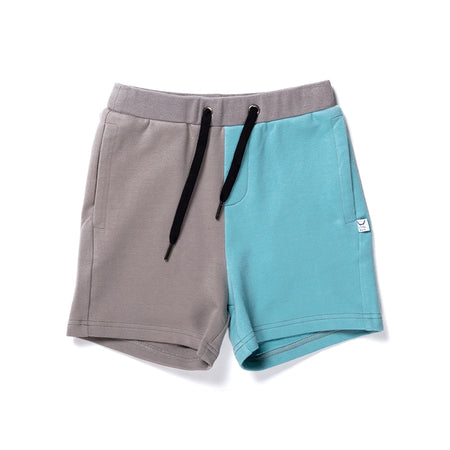 Littlehorn Branded Sweat Short - Slate/Aqua