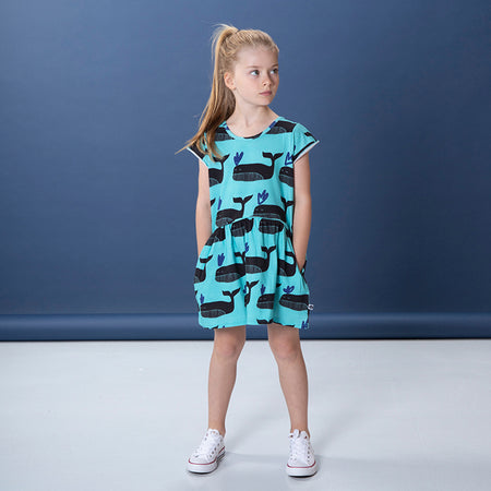 Littlehorn Whale Pod Dress - Turquoise
