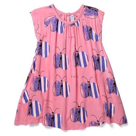 Littlehorn Lovely Butterfly Woven Dress - Sorbet