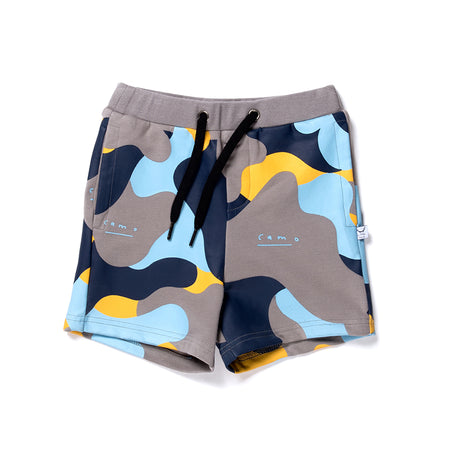 Littlehorn Camo Sweat Short - Slate