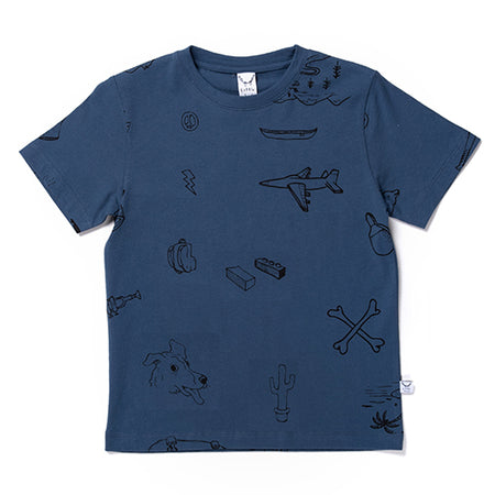 Littlehorn Small Sketches Tee - Navy