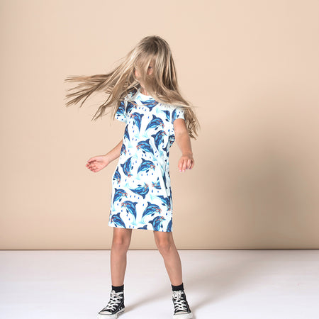Minti Dolphin Besties Dress - Light Blue