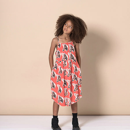 Minti Unicorns Woven Dress - Bronze