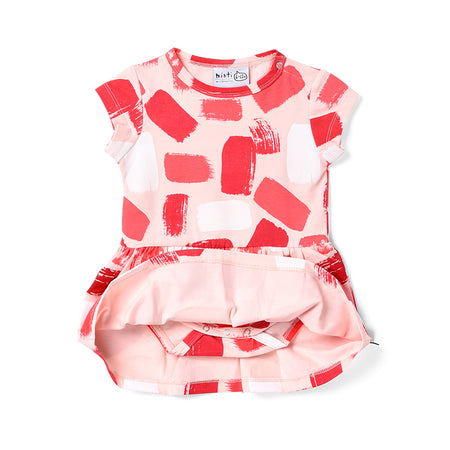 Minti Paint Onesie Dress - Ballet