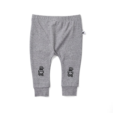 Minti Octo Cosy Pant - Light Grey Motley