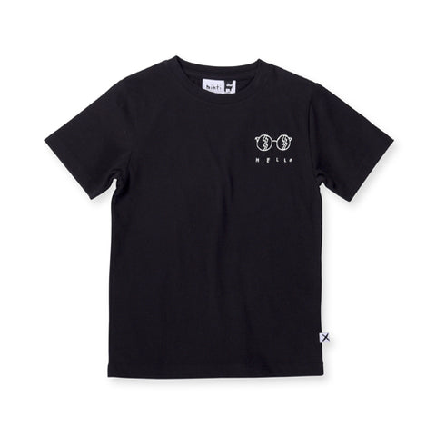 Minti Hello Sunnies Tee - Black