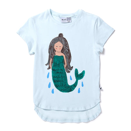 Minti Sleepy Mermaid Tee - Ice