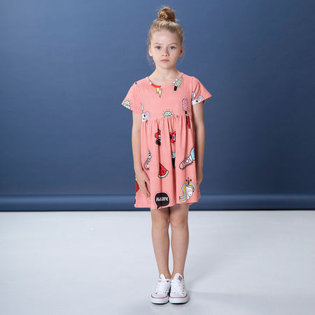 Littlehorn Badges Dress - Sorbet