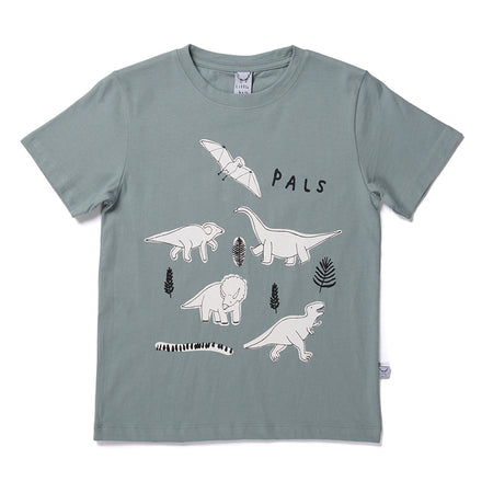 Littlehorn Dinosaur Pals Tee - Sea Green