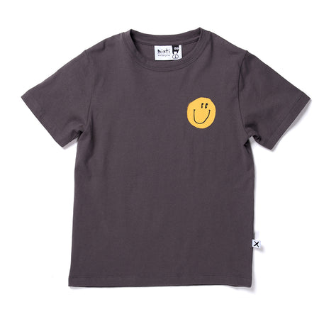 Minti Smiley Tee - Dark Grey