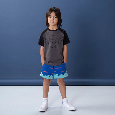 Littlehorn Aquarium Sweat Short - Teal