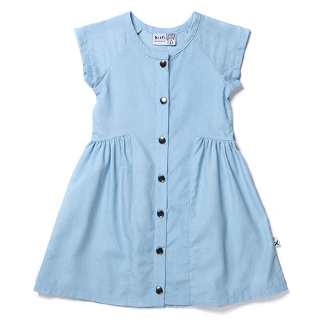 Minti Dome Chambray Dress - Chambray