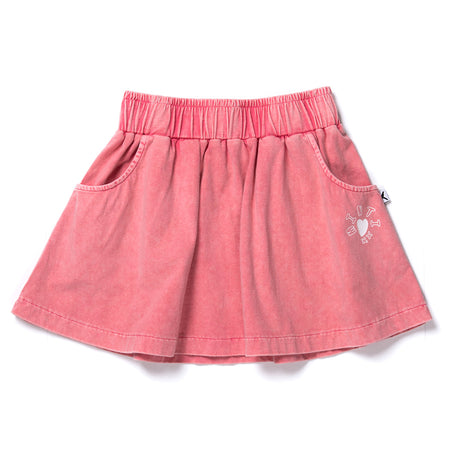 Minti Skater Skirt - Raspberry Wash