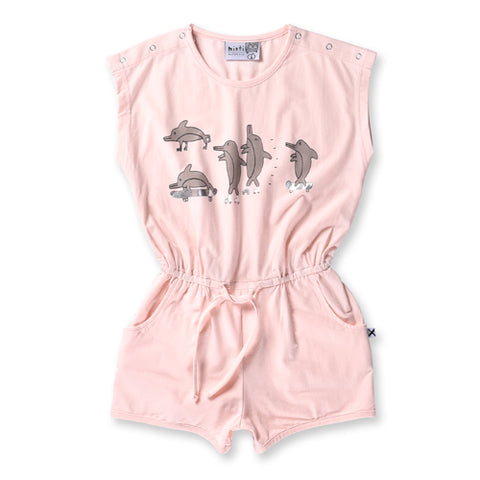 Minti Skating Dolphins Playsuit - Ballet