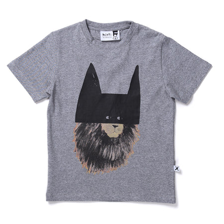 Minti Stealth Lion Tee - Grey Motley