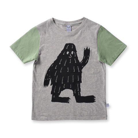 Littlehorn Big Foot Tee - Light Grey/Khaki