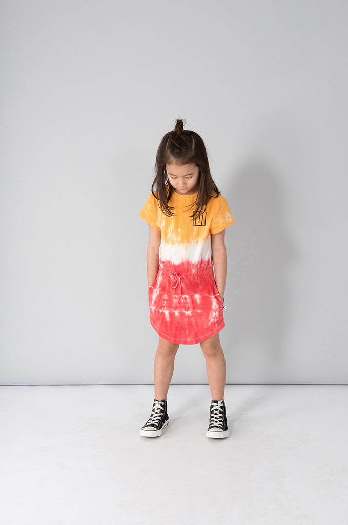 Minti Tropical Dress - Orange/White/Red