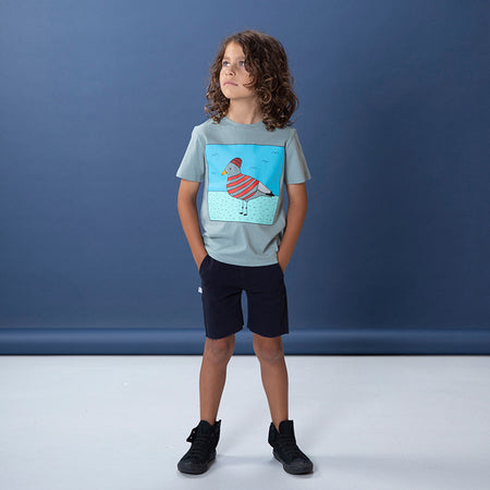 Littlehorn Skipper Gull Tee - Sea Green