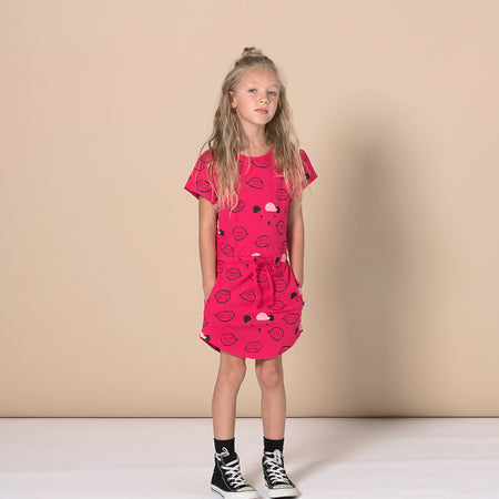 Minti Kind Comments Dress - Raspberry