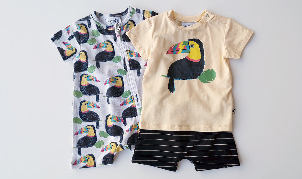 Minti Toucan Party Zippy Suit