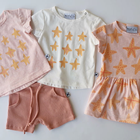 Minti Starfish Buddies Onesie Dress