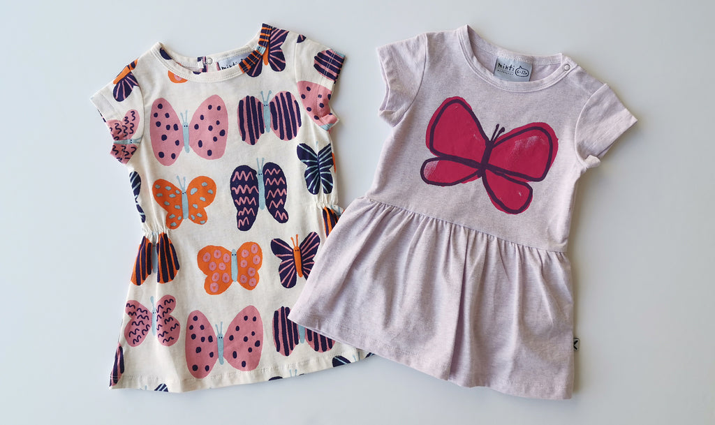 Minti Painted Butterfly Onesie Dress