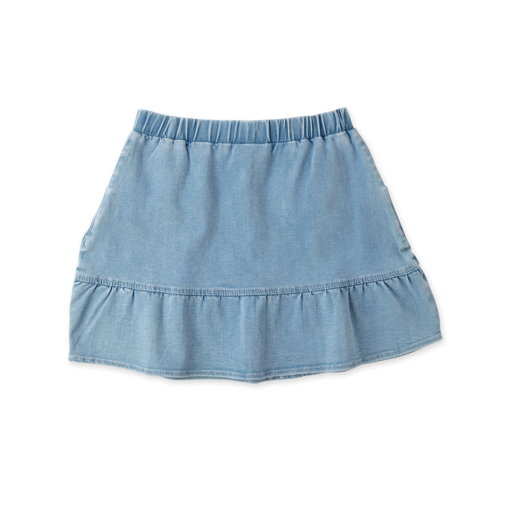 Minti Frilled Denim Skirt