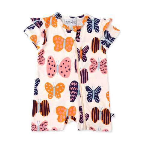 Minti Colourful Butterflies Zippy Suit