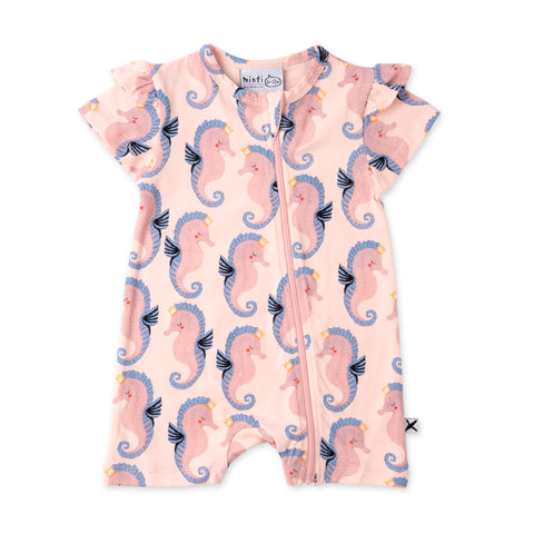 Minti Painted Seahorses Zippy Suit