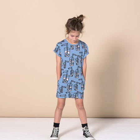 Minti Pink Lemonade Dress - Blue Marle