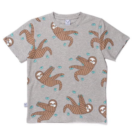 Littlehorn Sporty Sloths Tee - Marle