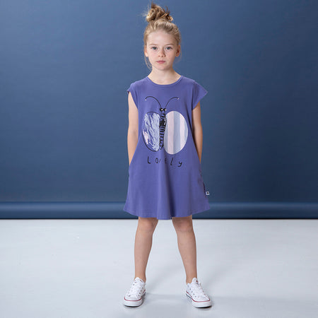 Littlehorn Lovely Butterfly Dress - Grape