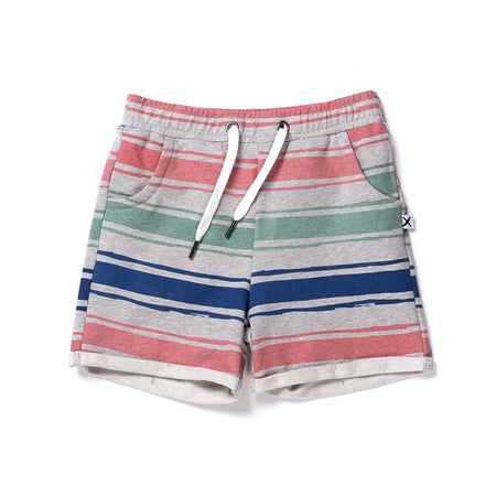 Minti Chalk Stripe Short - Grey Marle