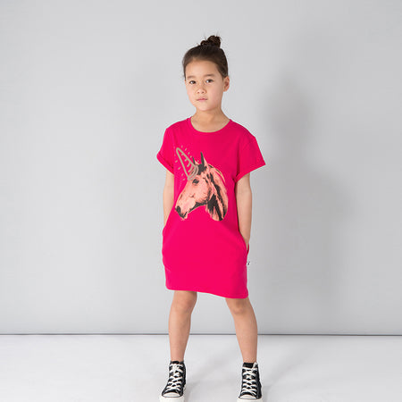 Minti Real Life Unicorn Tee Dress - Raspberry