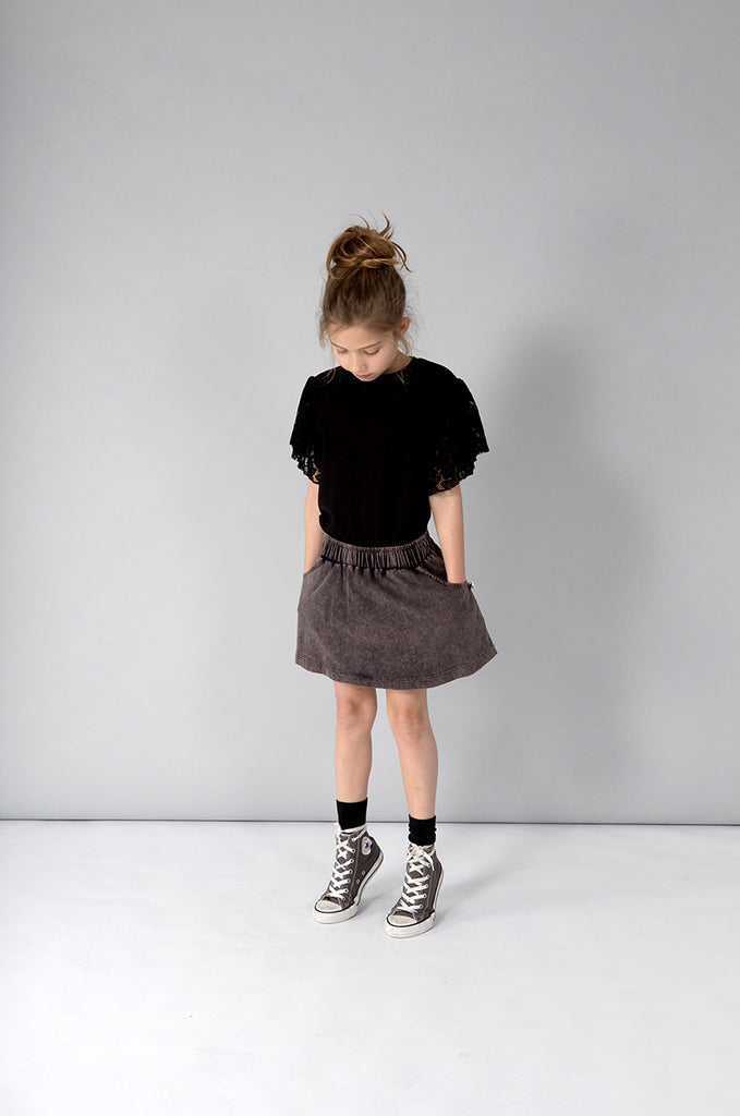 Minti Skater Skirt - Black Wash