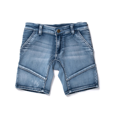 Minti Gusset Denim Short - Soft Blue