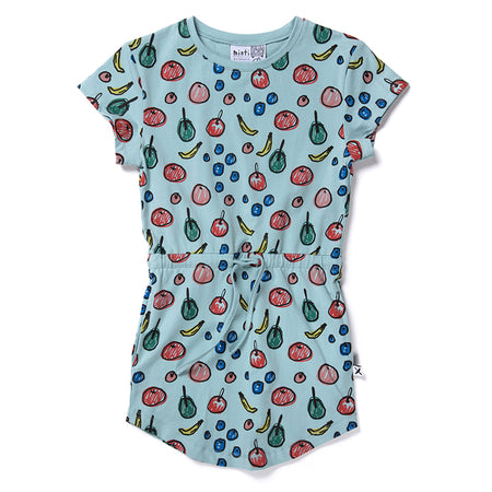 Minti Fruity Dress - Muted Green
