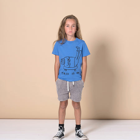 Minti This Is Ok Tee - Cobalt