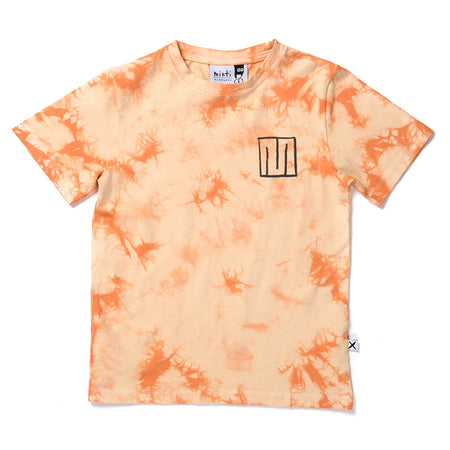 Minti Marble Tee - Orange Tie Dye