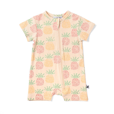 Minti Pineapples Zippy Suit - Cream