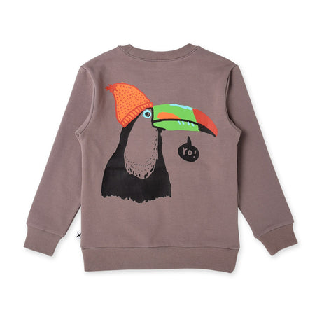 Minti Yo Toucan Furry Split Pocket Crew