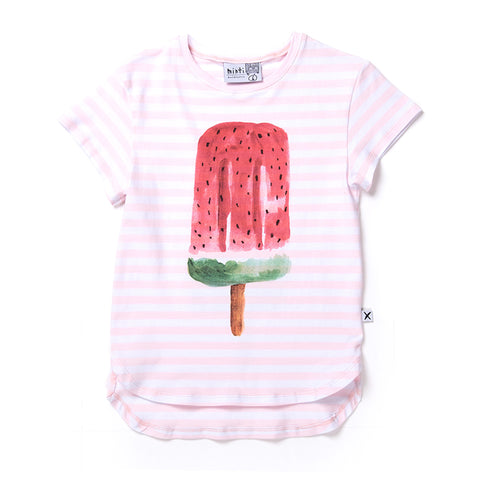 Minti Painted Popsicle Tee - Ballet Stripe