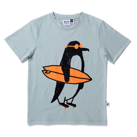 Minti Ready To Roll Penguin Tee - Muted Green